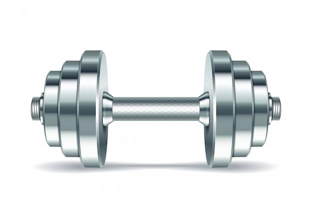 金属製のリアルなダンベル