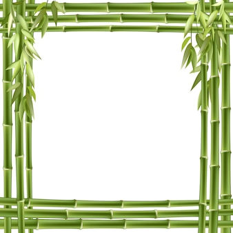 Бамбуковая рамка. фон