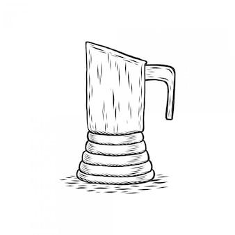 刻印された真岡鍋の手描き