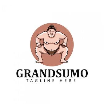 相撲のロゴ。フラット図