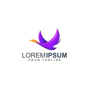 Красочный логотип утка премиум