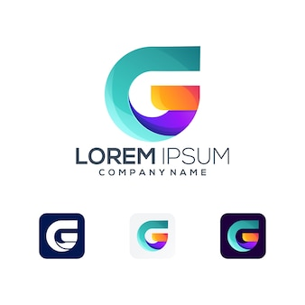 Буква г премиум логотип