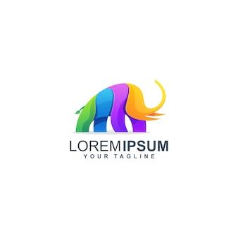 Слон дизайн логотипа