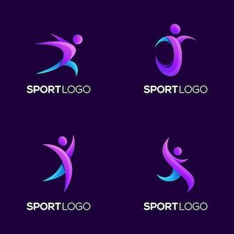 素晴らしいスポーツグラデーションロゴ