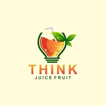 Думаю, сок логотип иллюстрации