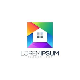 Дом градиент логотип