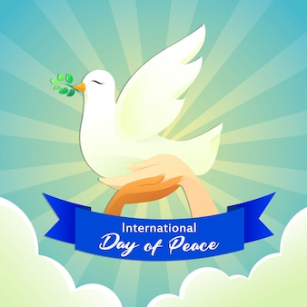 Голубь плакат мир день