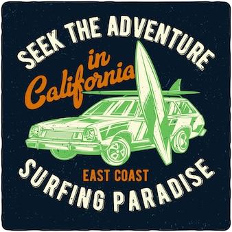 車とサーフィンボード