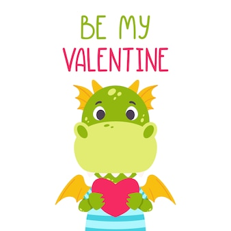 Будь моей валентинкой с драконом.