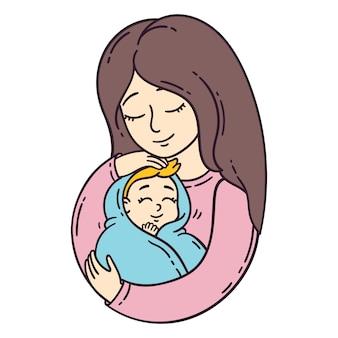 母親と赤ちゃん。