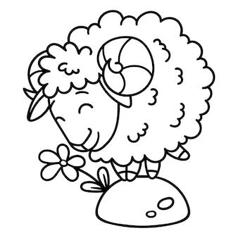 Овцы с цветком.