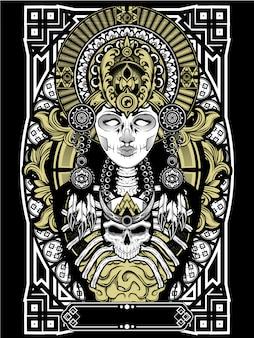 頭蓋骨の女性のブードゥー教