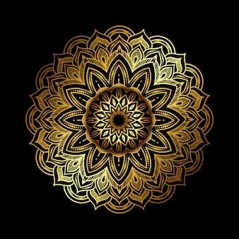 Золотая роскошная мандала