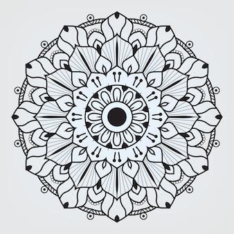 Круглая мандала, изолированные на белом