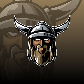 バイキングマスコットロゴ