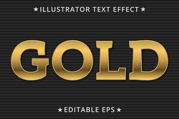 Золотой редактируемый эффект стиля текста