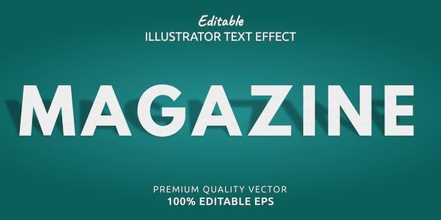Редактируемый текстовый эффект журнала