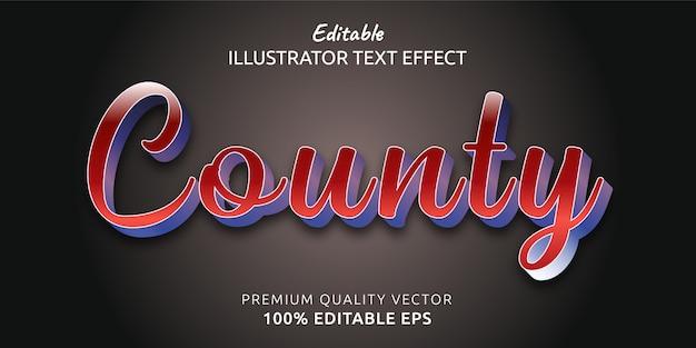 Эффект стиля редактируемого текста округа