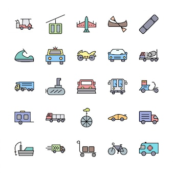 トランスポートのアイコンセット