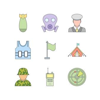 Набор иконок военных