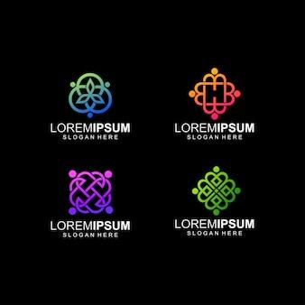 抽象的なロゴの色