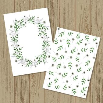 ベクターの花の招待カード