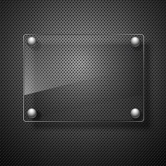 Абстрактный металлический фон со стеклянными рамками