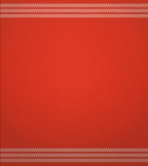 赤いニットパターン