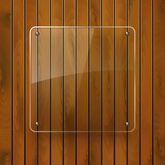 Деревянная текстура со стеклянным каркасом