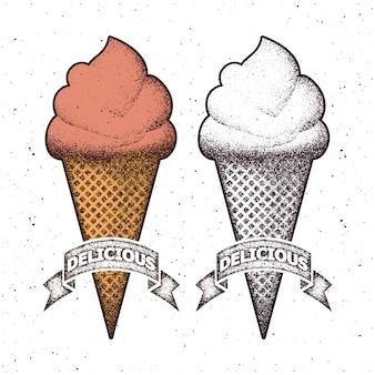 Мороженое. векторная иллюстрация