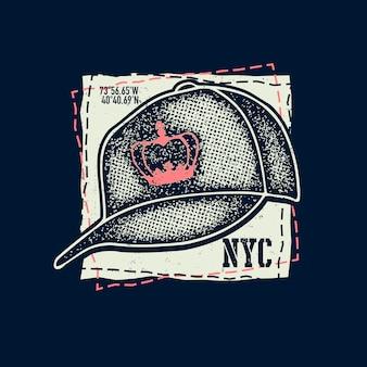 白い背景の上の野球帽