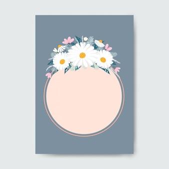 Круг рама с цветами.