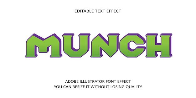 Мунк редактируемый текстовый эффект