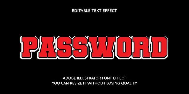 Редактируемый паролем текстовый эффект