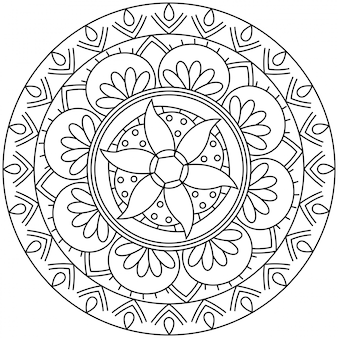 マンダラの形の円形パターン