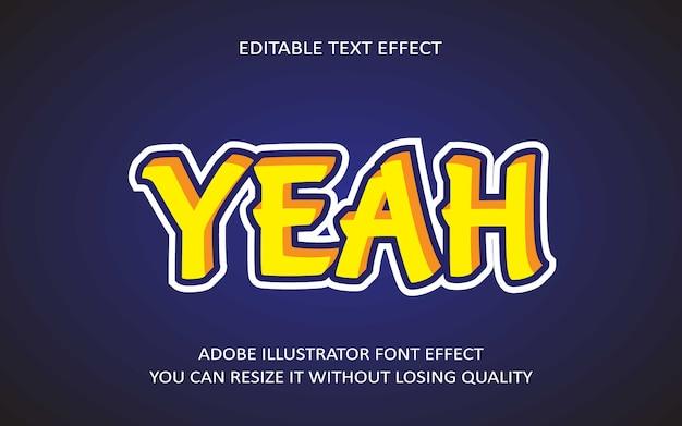 Да редактируемый текстовый эффект