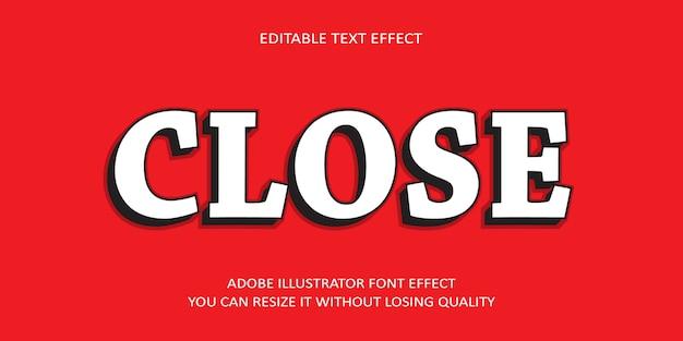 Закрыть редактируемый текстовый эффект
