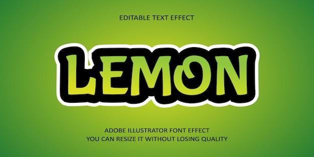 Лимонный редактируемый текстовый эффект
