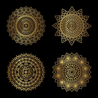 Золотая мандала дизайн
