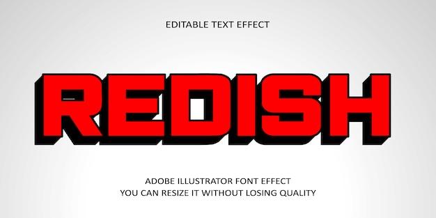 Красноватый редактируемый текстовый эффект