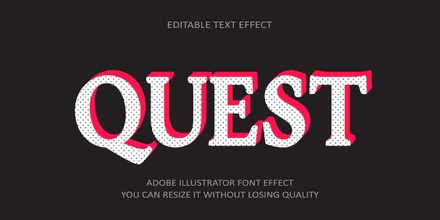Квест редактируемый текстовый эффект