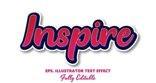 Вдохновить вектор редактируемый текстовый эффект
