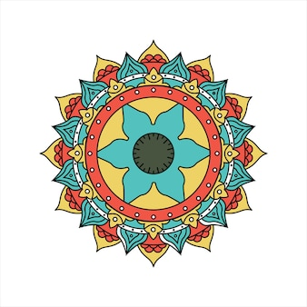 Ретро красочный дизайн мандалы