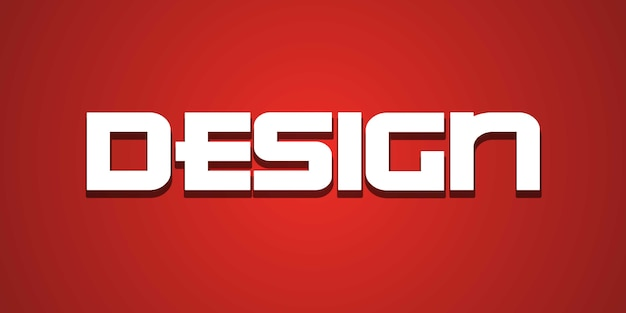 デザインテキスト効果の編集可能なフォント