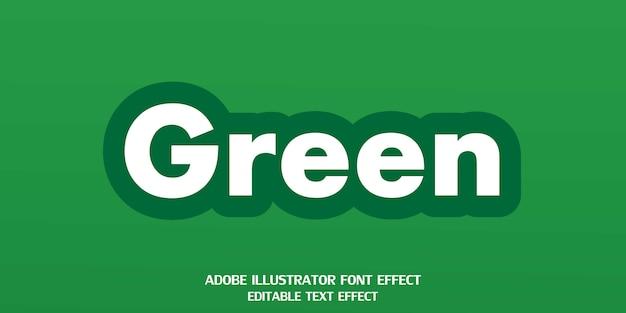 Зеленый редактируемый шрифт с эффектом стиля текста
