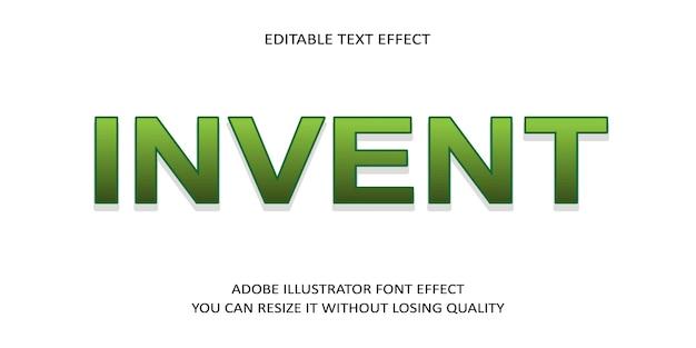 Изобретите простой текстовый эффект шрифта