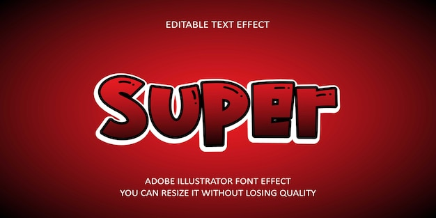 Супер редактируемый текстовый эффект шрифта