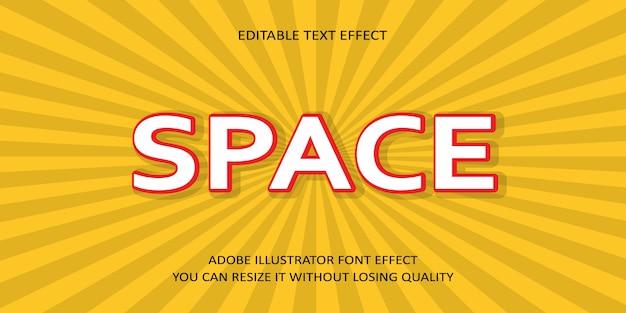 Эффект шрифта пространства текста