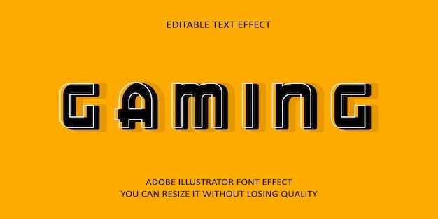 Эффект шрифта игрового текста