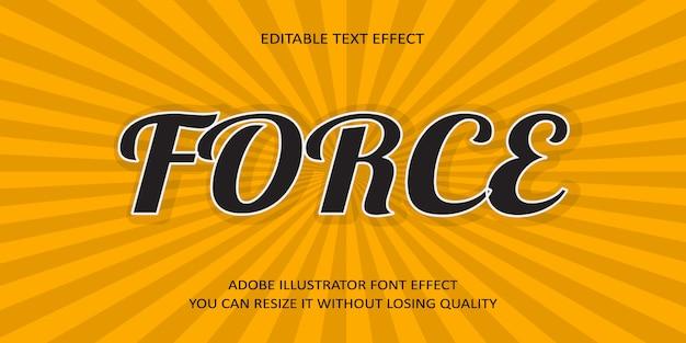 Принудительный эффект шрифта текста